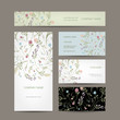 Business cards collection, floral design