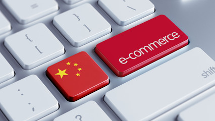 China E-Commerce Concept