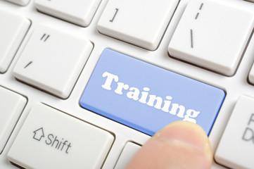 Pressing training key on keyboard