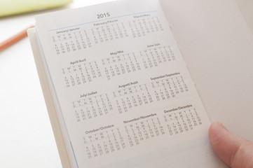 Holding calendar new calendar of 2015