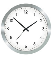 Vector format of simple metal analogue clock