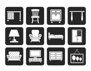 Silhouette Home Equipment and Furniture icons