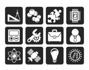 Silhouette Science and Research Icons