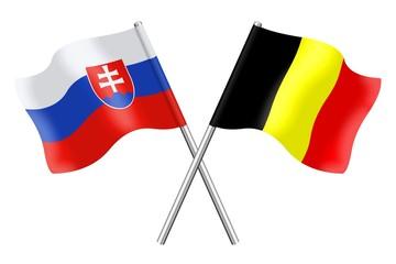 Flags : Slovakia and Belgium