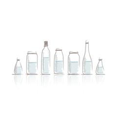 Set of bottles sketch for your design