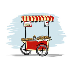 Street food cart for your design