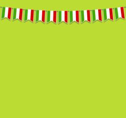 Wimpel Italien grün