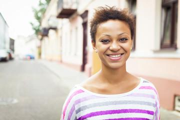 Smile young african american beautiful girl