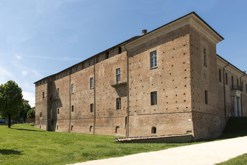 Visconteo Castle, east side, Voghera, Italy