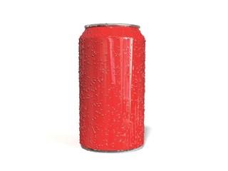 Lata refresco Roja gotas