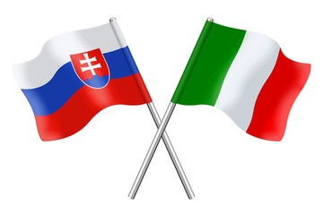 Flags : Slovakia and Italy