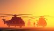 Leinwanddruck Bild - The helicopter