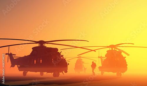 Leinwanddruck Bild The helicopter