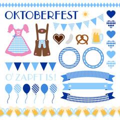 Octoberfest Symbols Set Pattern