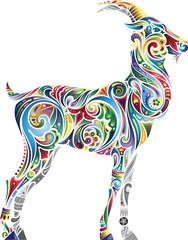 Cheerful goat (light)