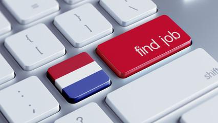Netherlands Find Job Concept