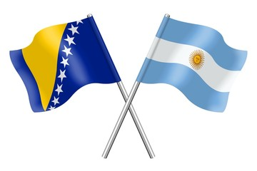 Flags : Bosnia-Herzegovina and Argentina