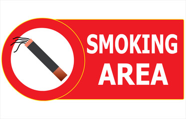 Permitting Smoking Cigarette Area Sign Vector