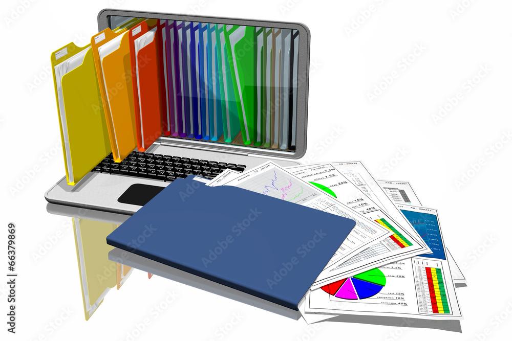 dokument segregatorowych komputer - powiększenie