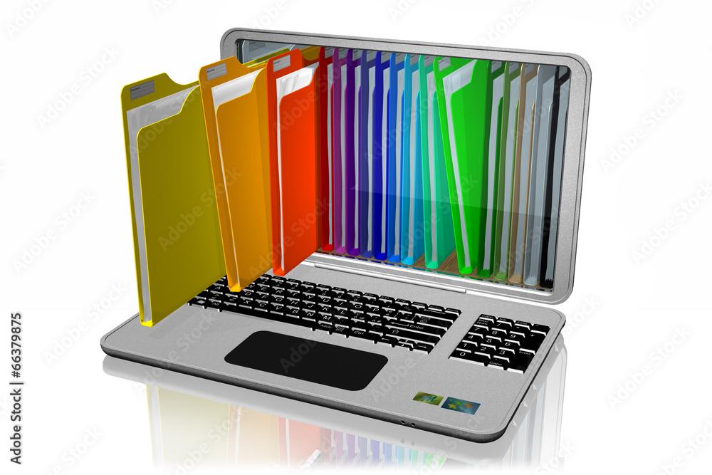 segregatorowych komputer dokument - powiększenie