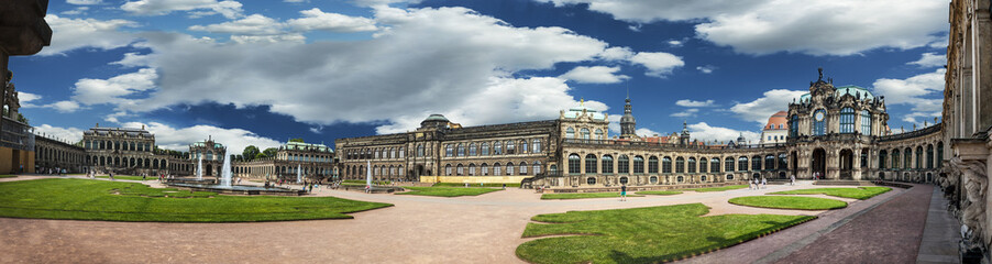 Panoramic view of Zwinger Palace, Dresden