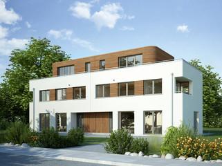 Doppelhaus weiss 2