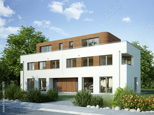Doppelhaus weiss 2 - 66379874