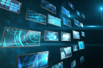 Screen collage showing computing images