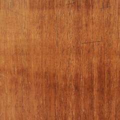 Scratched varnished wood surface