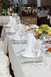 Table set for event party or wedding reception celebration