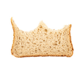 Bitten slice of bread