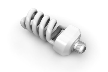 energy saving light bulbs isolated on white background