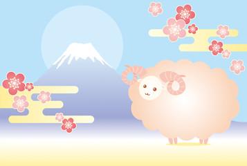 羊 富士山