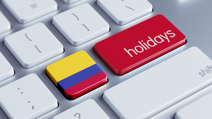 Colombia Holidays Concept