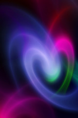 Colorful abstract background, love heart.