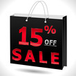 15% off, 15 sale discount, 15 off text- vector EPS10