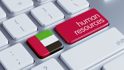 United Arab Emirates. Human Resources Concept