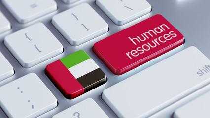 United Arab Emirates. Human Resources Concept