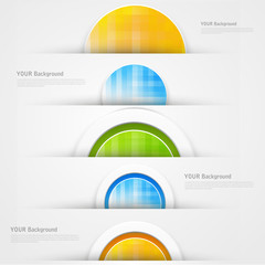 Set of modern vector banners with blue lines