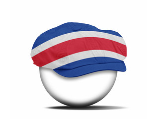 fashion hat on white with the flag of Costa Rica