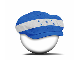 fashion hat on white with the flag of Honduras