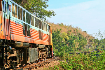 Death railway was built during World War II in Thailand