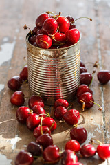 Delicious cherry on the table