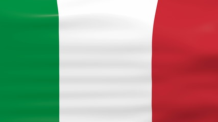 Waving Italy Flag, ready for seamless loop.