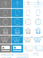 E-shop and E-comerce Icon set