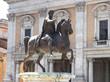 rome, ancient Rome with Marcus Aurelius on the Piazza del Campid