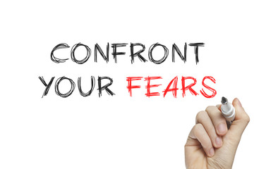 Hand writing confront your fears