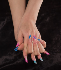 Greater nails on a black background