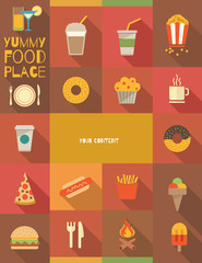 Flat Food Poster