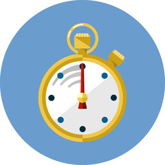 Stopwatch flat vector icon